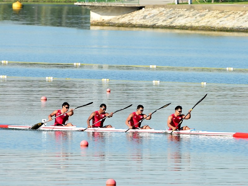 Thailand successfully defended their K4 1000m title with an excellent display