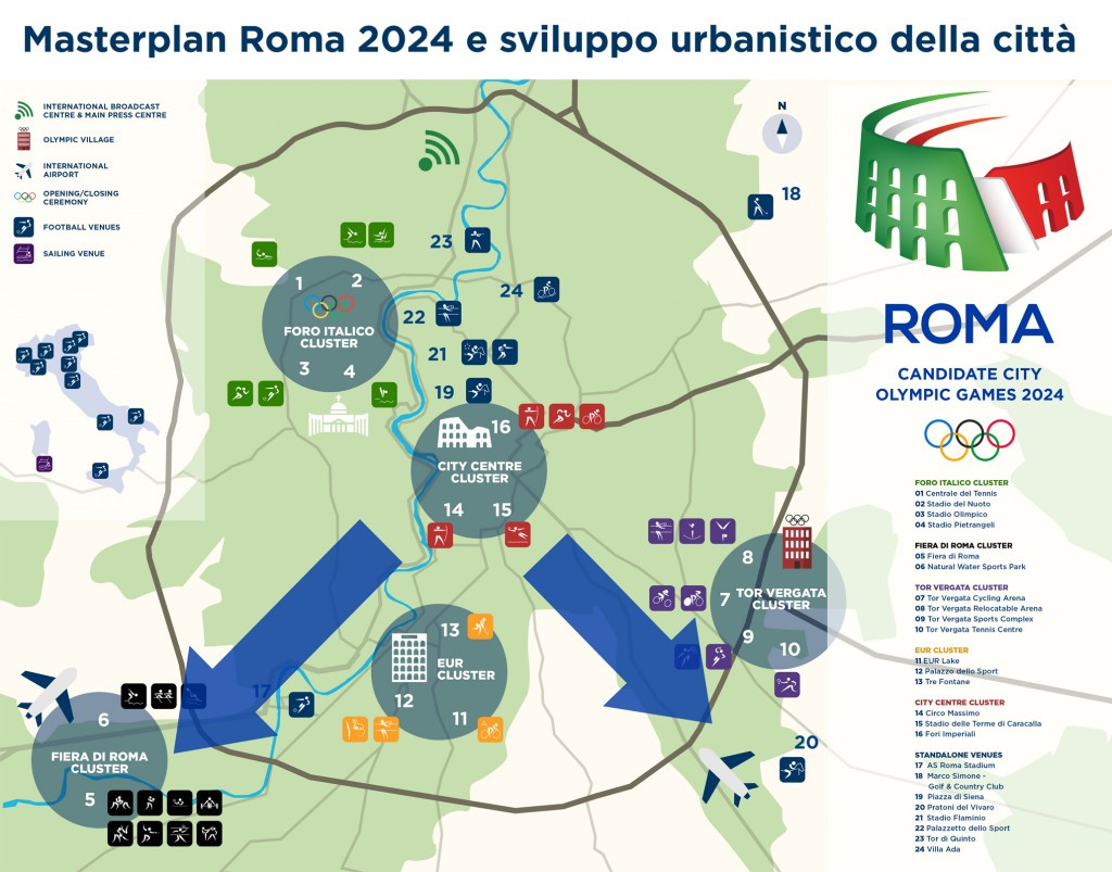 Rome 2024 has signed a collaboration agreement with the Association of Architects of the City and Province of Rome focusing on the regeneration and urban planning of the city ©Rome 2024