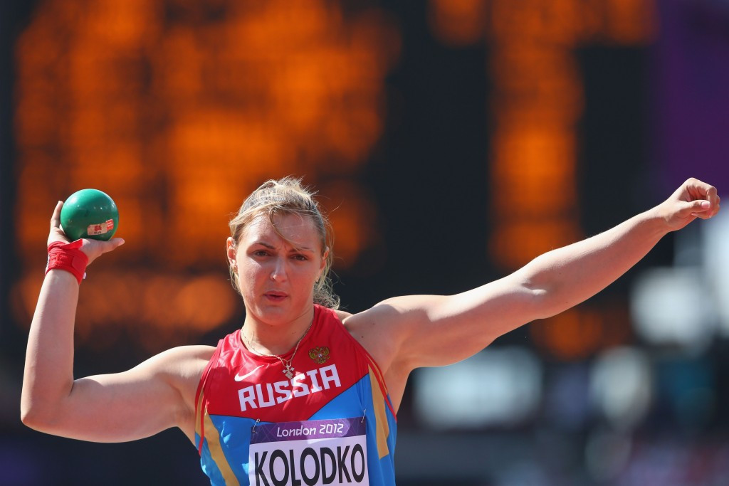 Yevgeniya Kolodko is one of eight Russian athletes to have tested positive at London 2012 following a re-analysis of their samples it has been revealed ©Getty Images