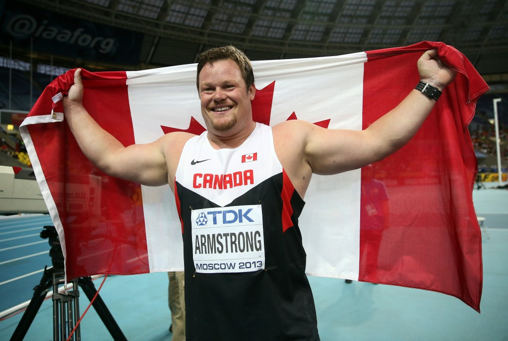 Canada's Dylan Armstrong has urged his wife  Yevgeniya Kolodko to cooperate with the IOC and WADA after it emerged she is one of eight Russians whose samples from London 2012 have tested positive ©Getty Images
