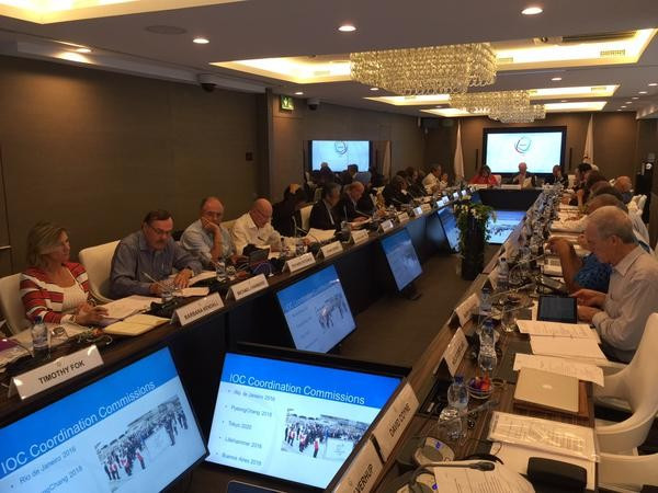 ANOC Executive Council members discussed a variety of issues in the meeting chaired by Patrick Hickey, but the Beach Games was most prominent ©ANOC