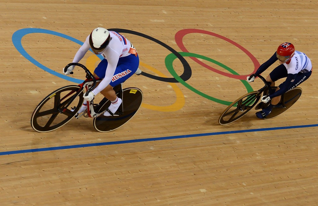 Russian cyclist Etakerina Gnidenko was eliminated in the early rounds of the women's keirin and individual sprint competitions at the Olympics in London 2012 but later won a silver medal in the European Championships ©Getty Images