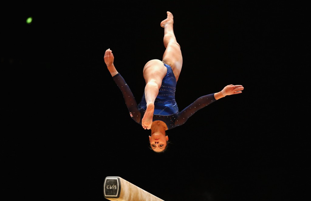 Becky Downie helped Great Britain top the qualification standings at the 2016 European Women's Artistic Gymnastics Championships ©Getty Images