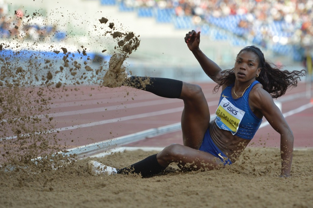 Colombia's Caterine Ibargüen competing at the Rome Diamond League - the latest competition to be postponed ©Getty Images
