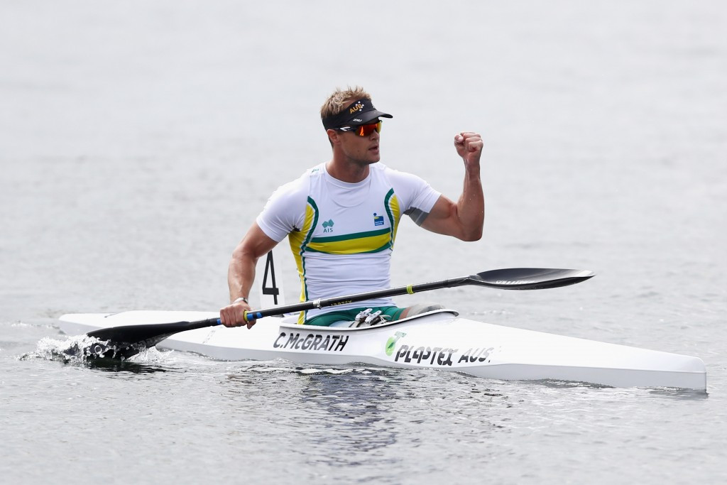 Australian canoe star Curtis McGrath earned men's KL2 gold at the Para Canoe World Championships in May