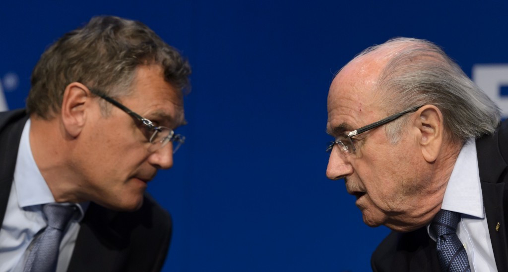 Jérôme Valcke and Sepp Blatter, along with Markus Kattner, gave themselves a series of bonuses and contract extensions totalling $80 million over a five-year period newly published documents have revealed ©Getty Images