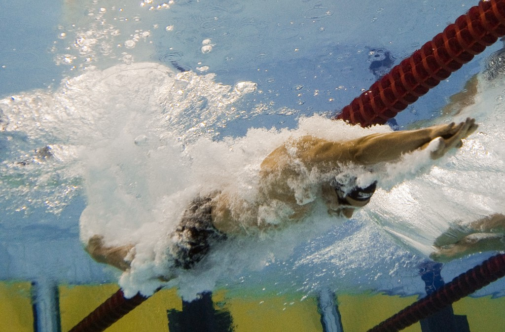 Rami Anis pictured swimming for Syria at the 2010 Asian Games in Guangzhou ©ITG