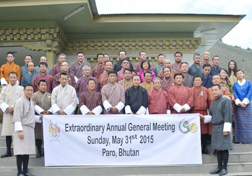The Bhutan Olympic Committee's first Extraordinary Annual General Meeting took place in Paro ©BOC