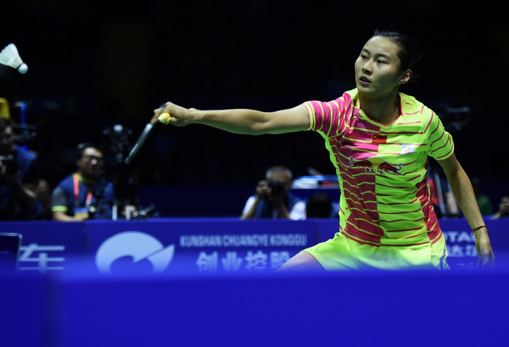 Wang defeats top seed to reach BWF Indonesia Open final