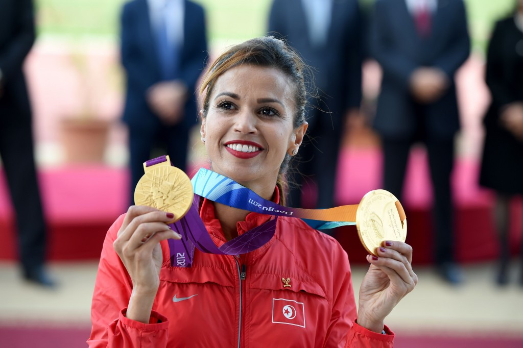 Tunisia's Habiba Ghribi has officially been presented with the Olympic and world 3,000m steeplechase gold medals stripped from Russian doping cheat Yuliya Zaripova ©Getty Images