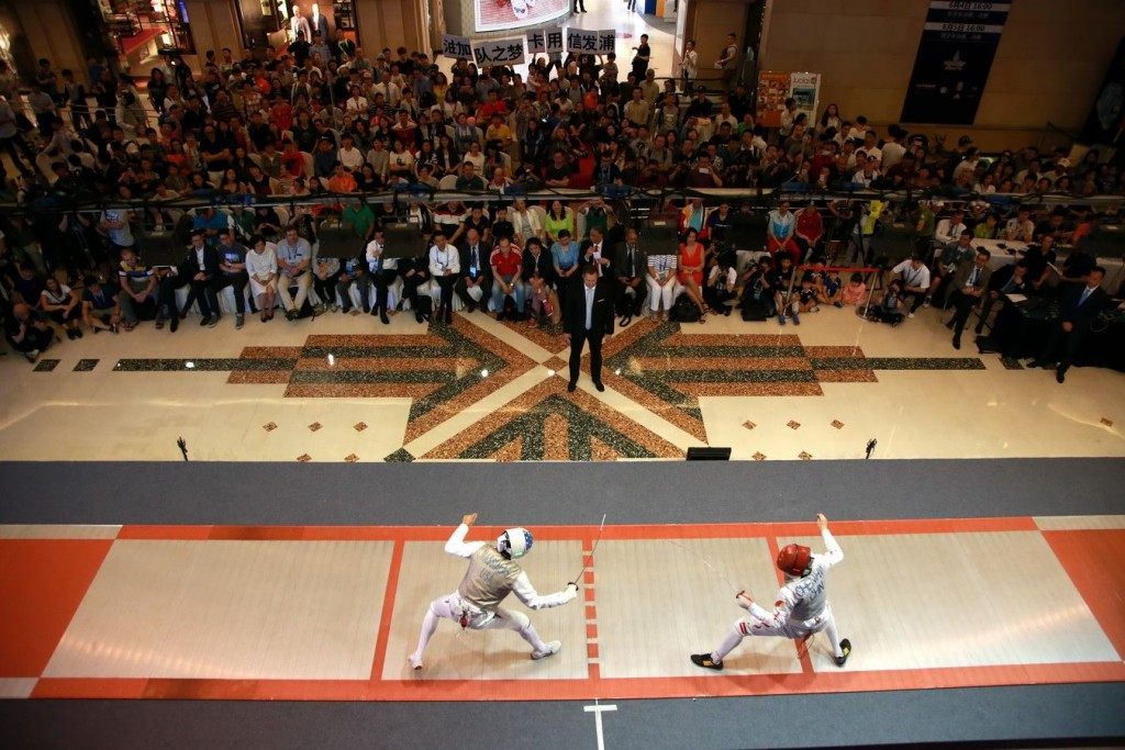 Competition took place at the Westgate Shopping Mall in Shanghai