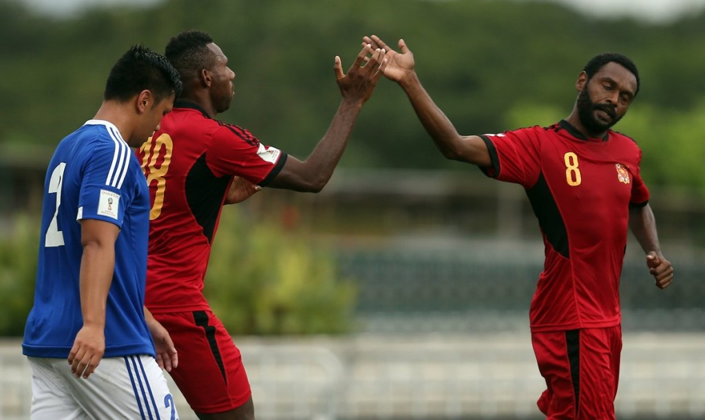 Papua New Guinea earned an 8-0 win over Samoa to reach the semi-finals ©Twitter/FIFA World Cup