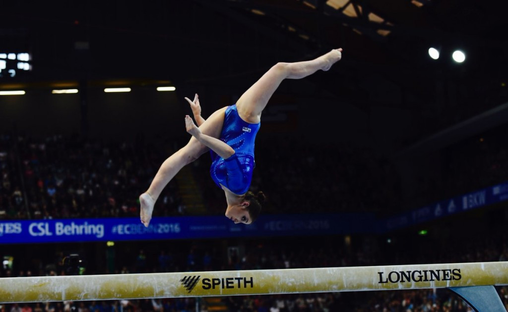 Russia's Aliya Mustafina triumphed in the beam final