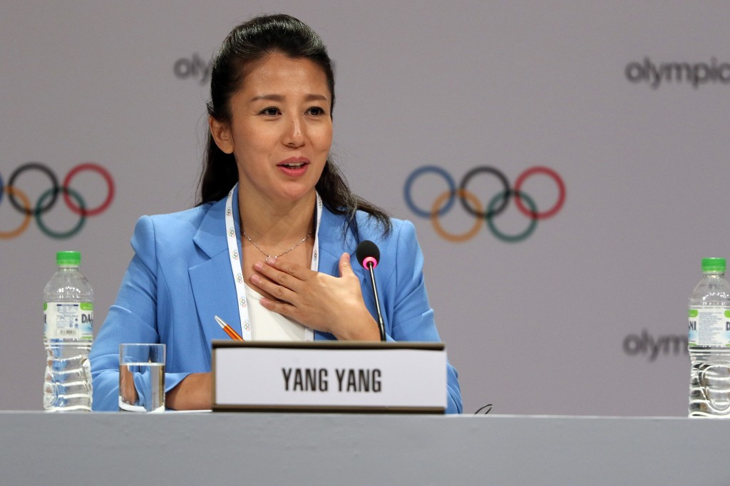 Olympic champion turned IOC Athletes' Commission member Yang Yang is vying for a place on the ISU Council ©Getty Images