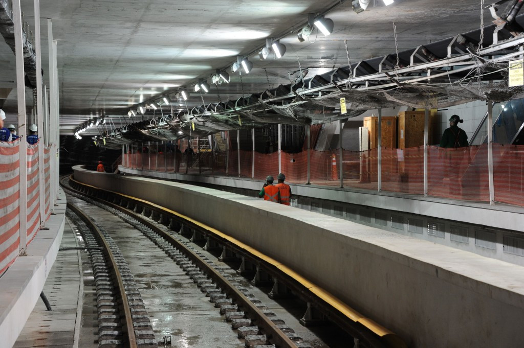 The subway line extension is seen as an essential way of transporting people around Rio during the Olympic Games