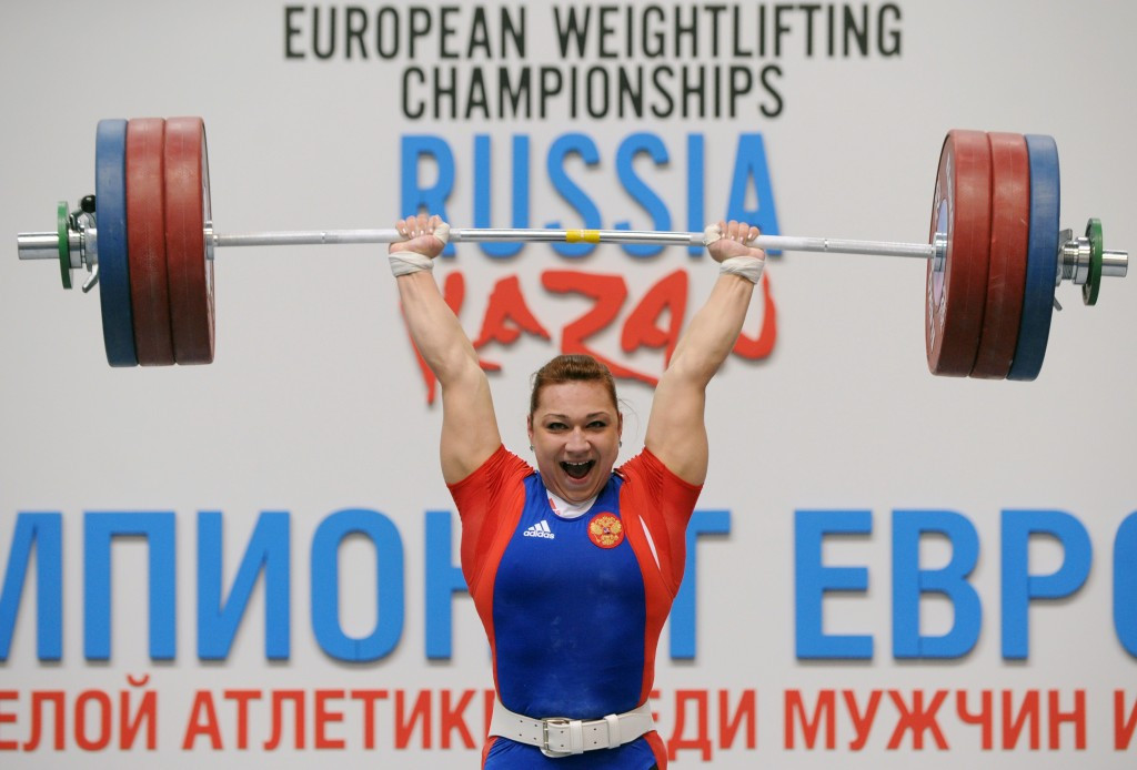 Russian weightlifters Nadezhda Evstyukhina and Marina Shainova have registered positive B-samples ©Getty Images