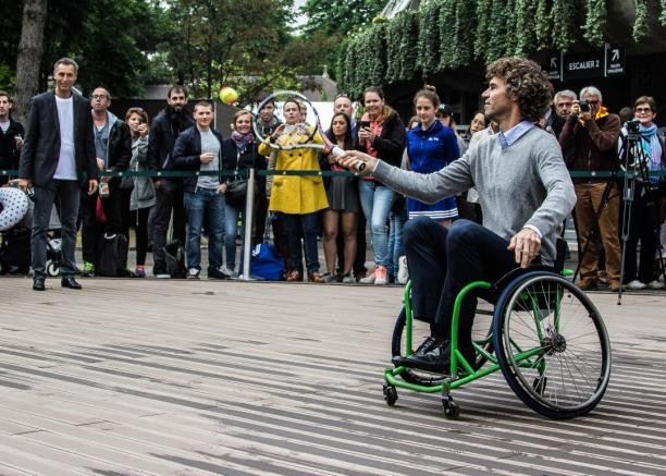 Three-time French Open champion participates in wheelchair tennis festival ahead of Rio 2016 Paralympics