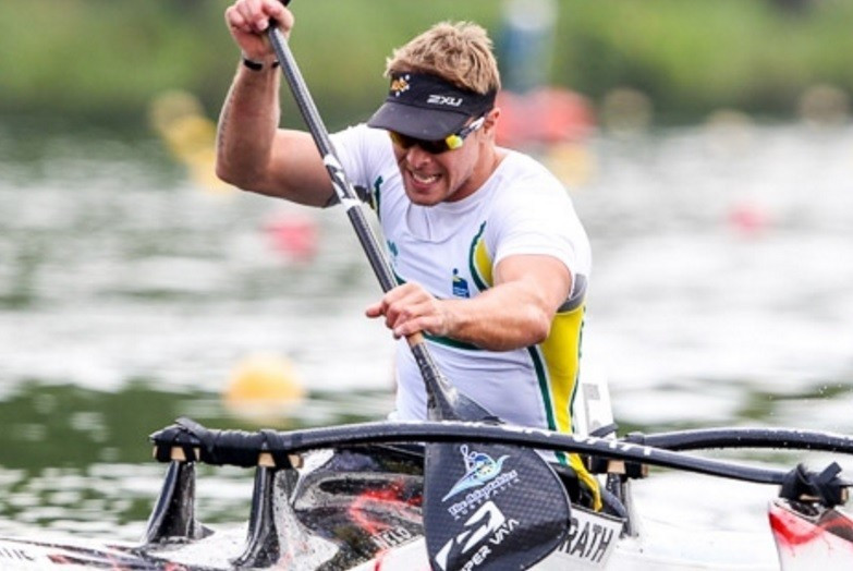 Curtis McGrath narrowly finished in second place after canoeing World Championship success ©ICF