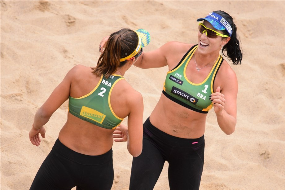 Reigning FIVB world champions and Rio 2016 home hopes make strong start at Major Series event in Hamburg