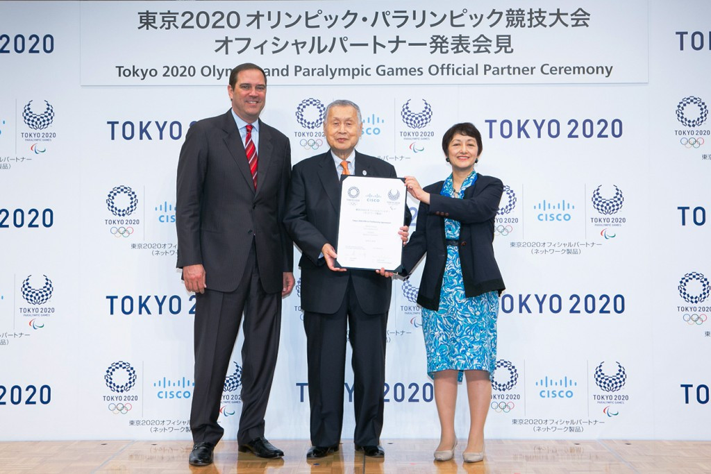 Cisco Systems GK has signed on as an Official Partner of Tokyo 2020 ©Tokyo 2020