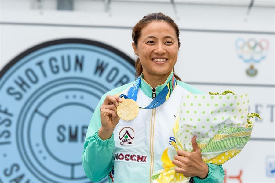 Jiewchaloemmit wins second consecutive ISSF World Cup title in San Marino