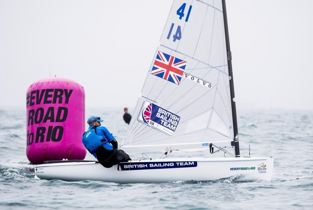Scott underlines form ahead of Olympic debut at Rio 2016 on first full day of racing at home Sailing World Cup
