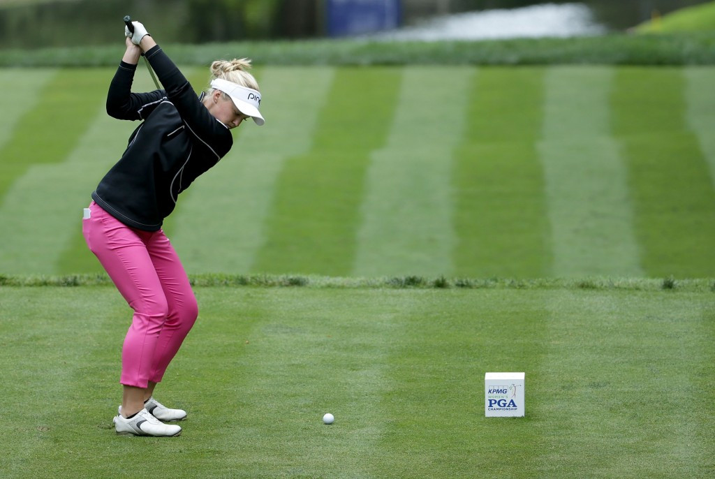 Henderson opens two shot lead at Women's PGA Championship after hole-in-one