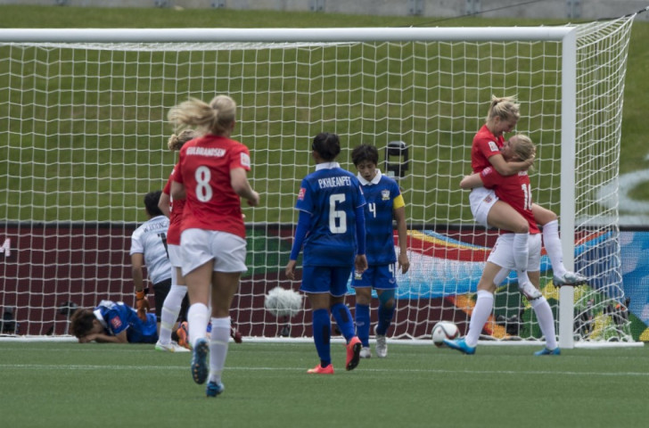 Norway ran out 4-0 winners against Thailand
