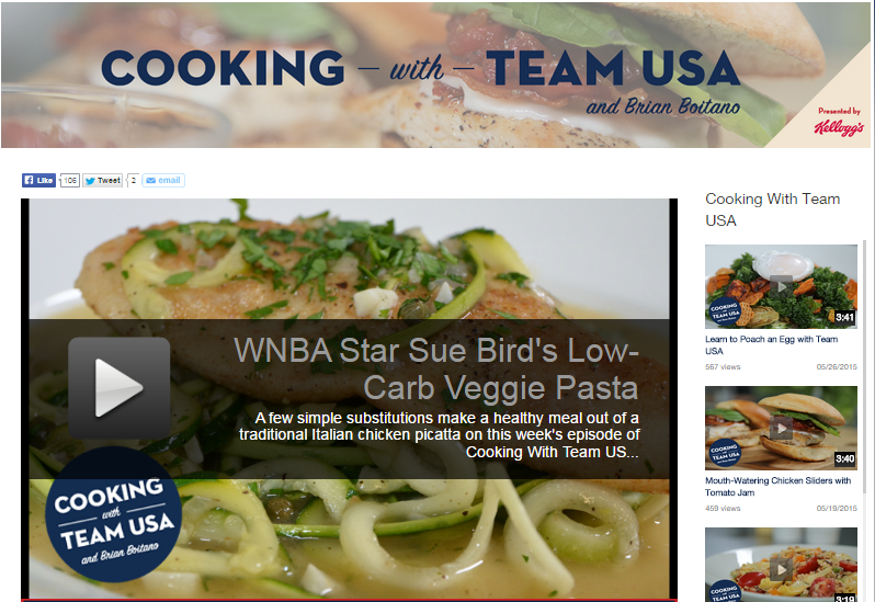 Cooking with Team USA will feature Brian Boitano alongside many other US athletes ©USOC