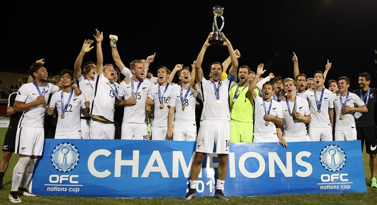 New Zealand win OFC Nations Cup after beating hosts on penalties