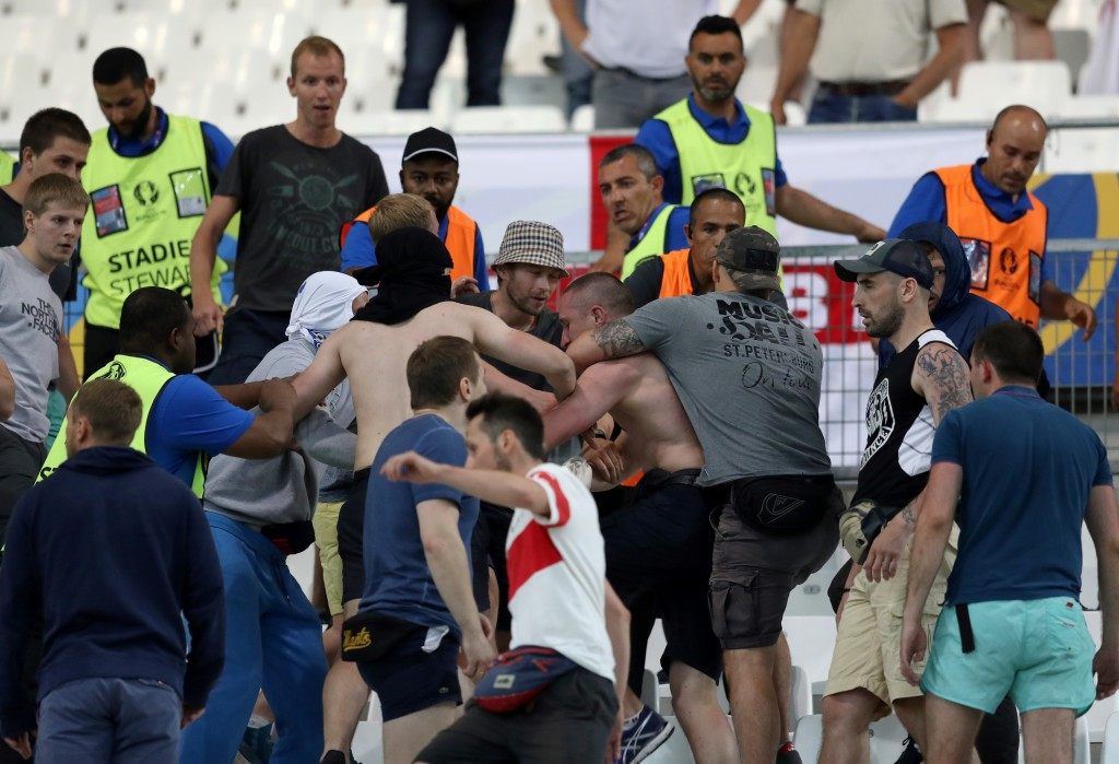 "UEFA express ""utter disgust"" after violent clashes mar England and Russia Euro 2016 match"