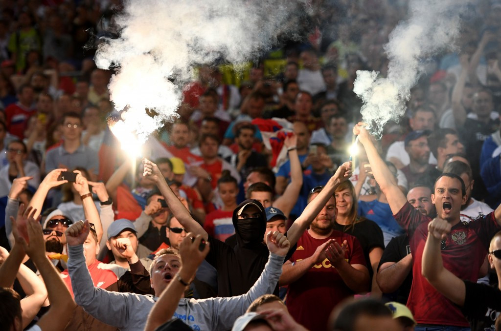 Russia have been charged with crowd disturbances, racist behaviour and setting off of fireworks