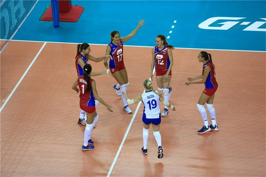 Russia beat Belgium in straight sets to record a second win
