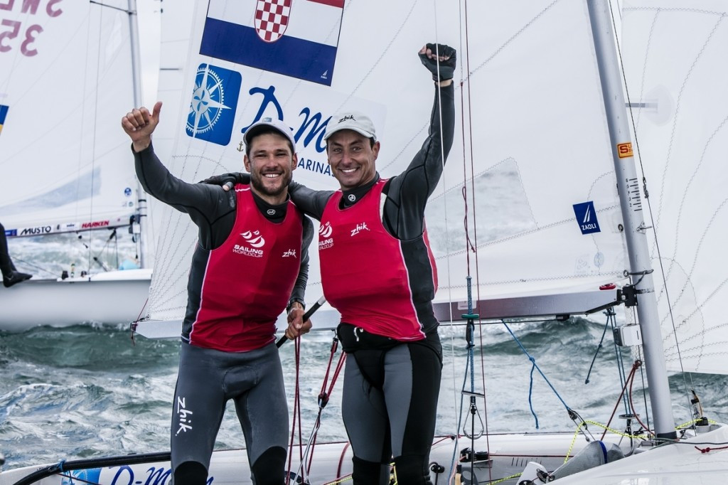 World champions Sime Fantela and Igor Marenic won the men's 470 medal race to claim gold on the final day of action at the Sailing World Cup in Weymouth and Portland ©World Sailing