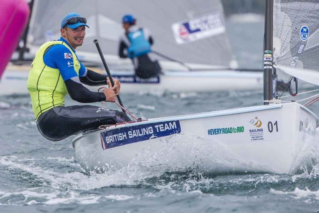 Great Britain's Giles Scott continued his dominance in the Finn, claiming another gold medal