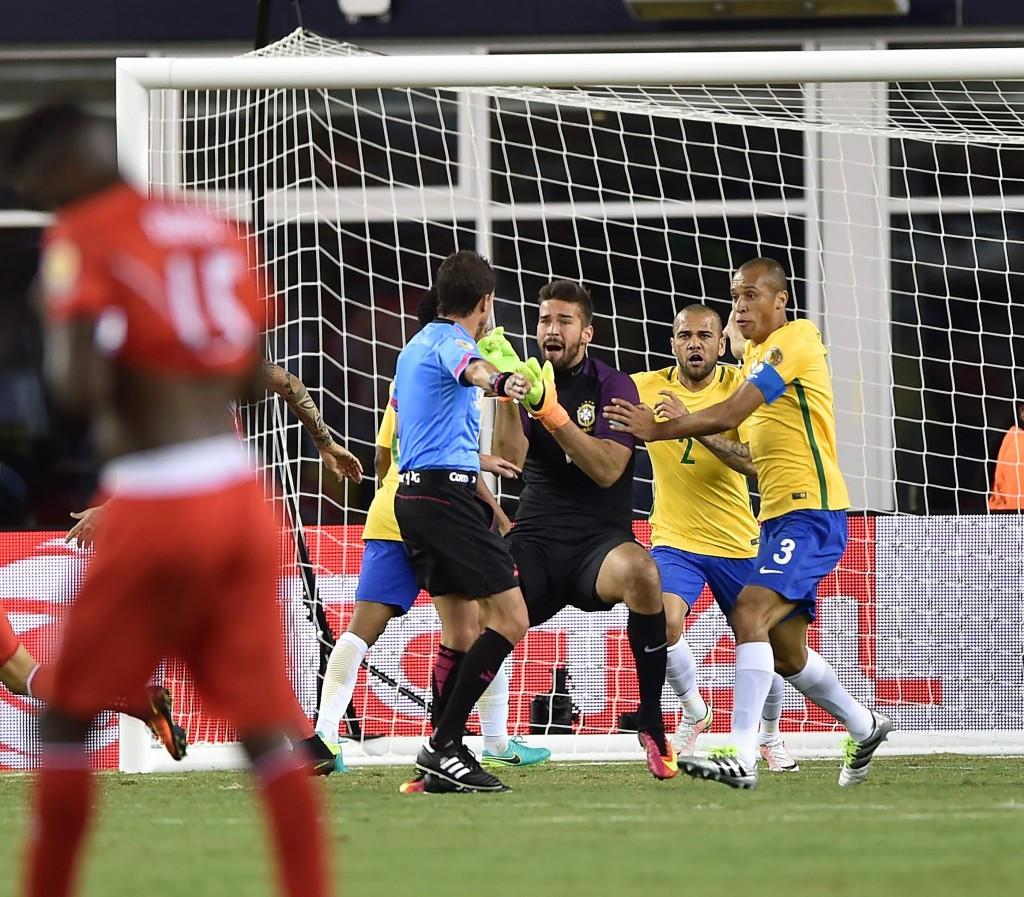 Peru score controversial winner to send Brazil crashing out of Copa America Centenario