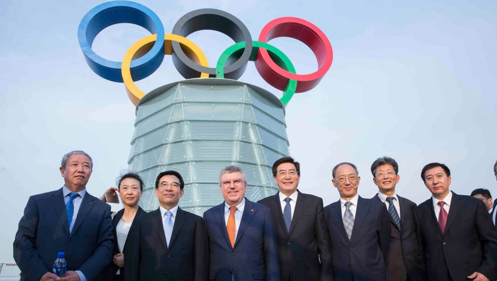 Beijing 2022 erect Olympic Rings on tower to highlight commitment to Games