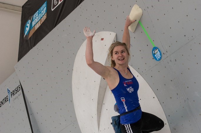 Double celebration for Coxsey as MBE follows IFSC Bouldering World Cup title