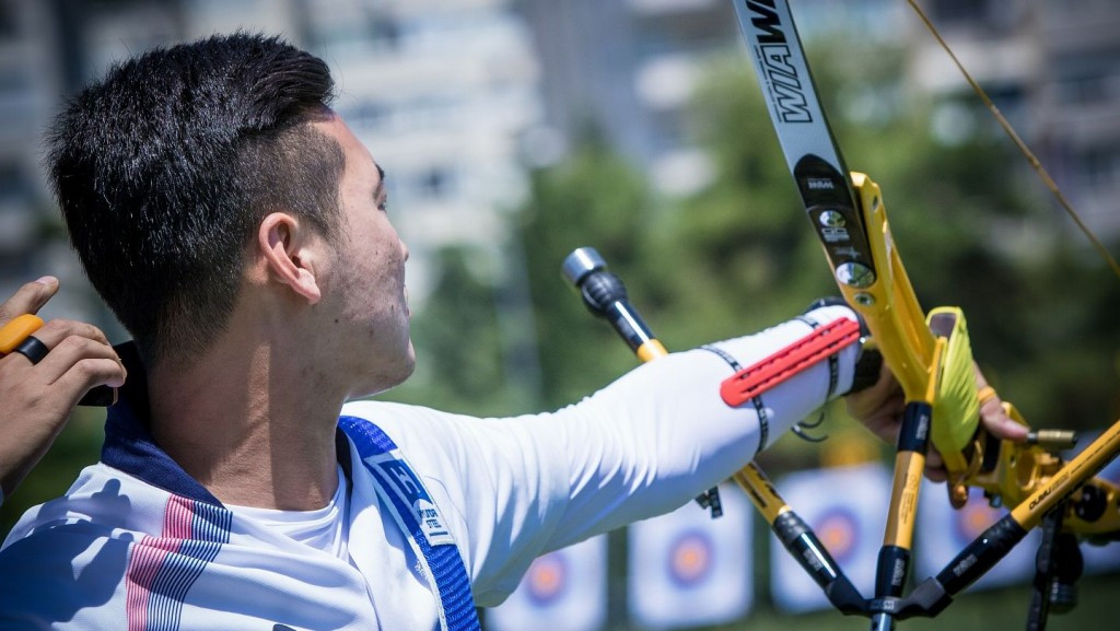 Ku Bonchan topped the leaderboard as the Archery World Cup in Antalya began with men's recurve qualification ©World Archery