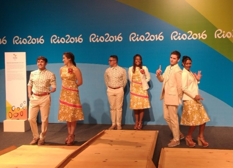 Podiums and uniforms to be worn by presenters have also been unveiled today ©Rio 2016/Saulo Guimarães