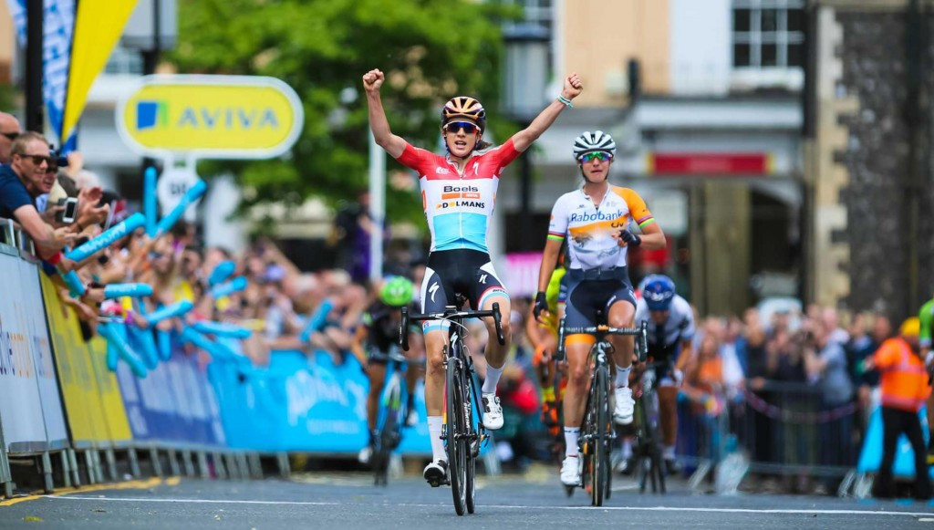 Majerus sprints to opening stage win at Aviva Women's Tour