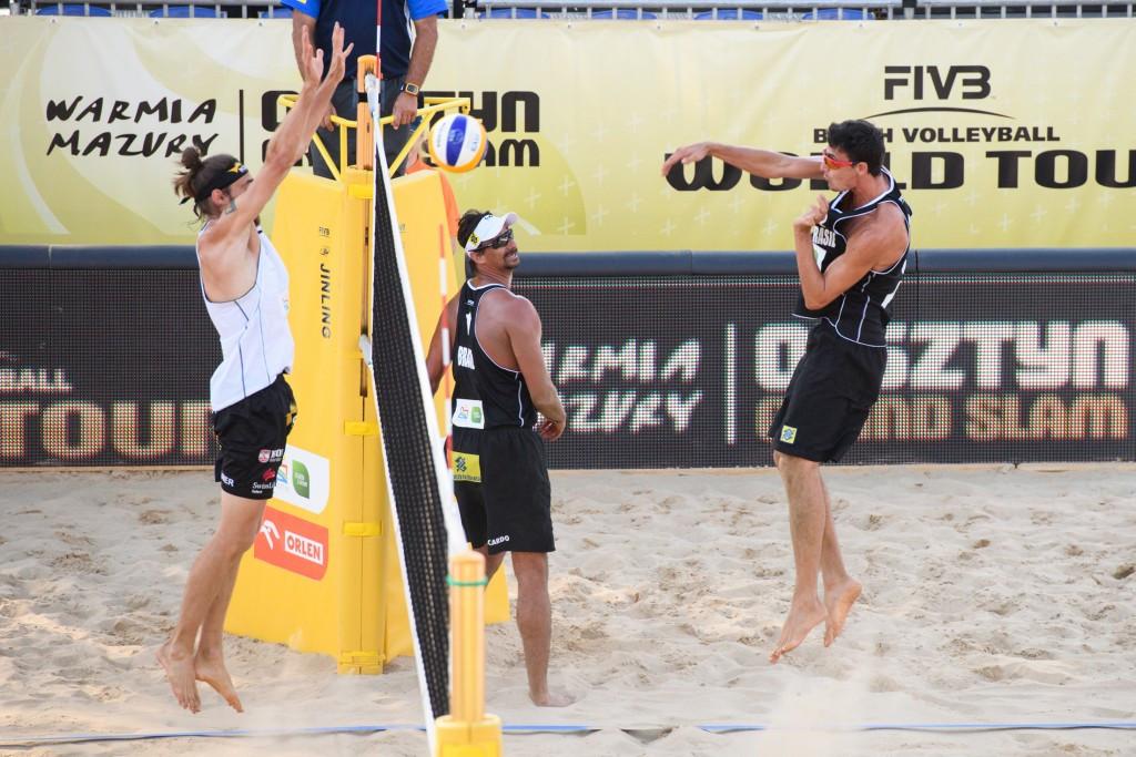 Brazilian and Spanish men's pairs on top at FIVB Olsztyn Grand Slam