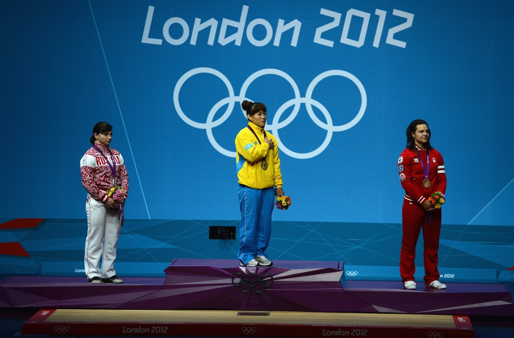 Maiya Maneza is one of four Kazakh Olympic champions to fail tests ©Getty Images