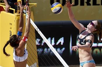 German duo recover from Olympic set-back with pool win at FIVB Olsztyn Grand Slam