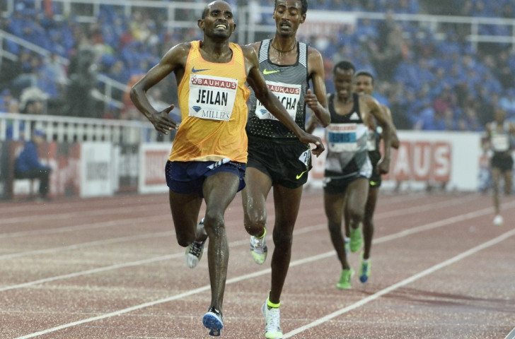 Ibrahim Jeilan, the 2011 world 10,000m champion, gets back to winning ways in the 5000m ahead of fellow Ethiopian Yomif Kejelcha ©Getty Images