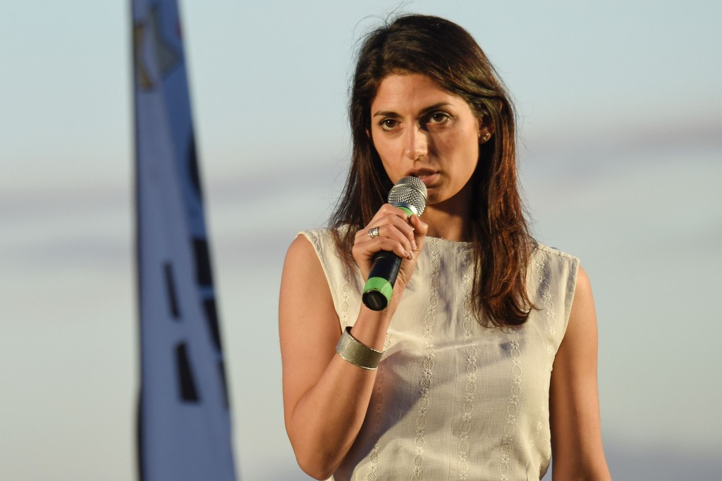Virginia Raggi is the favourite to win tomorrow's Rome Mayoral election ©Getty Images