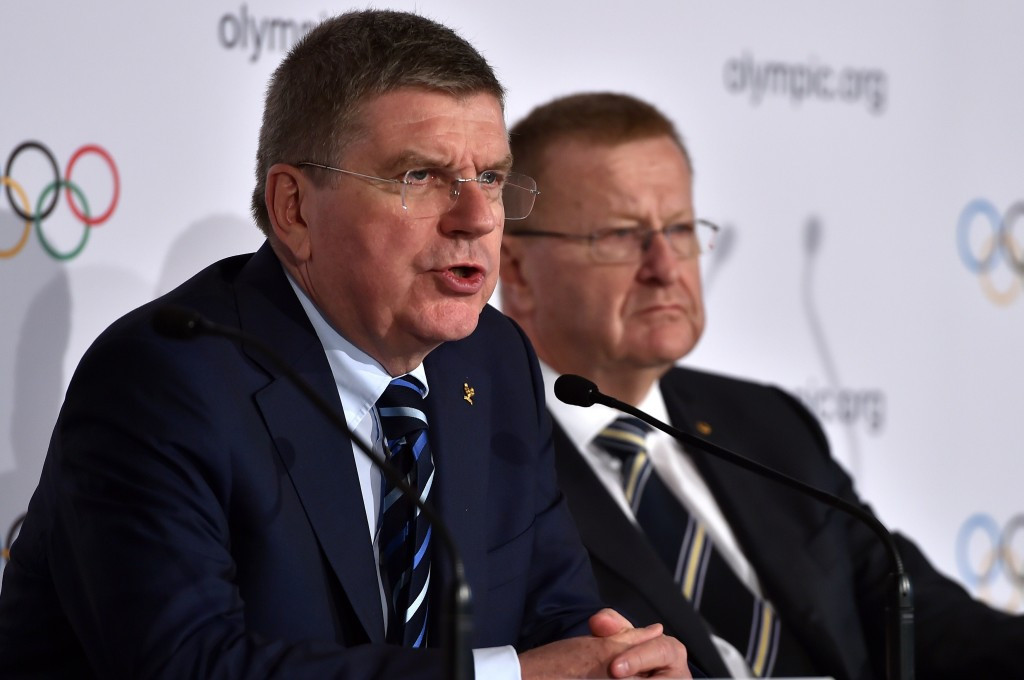 John Coates is considered a close ally of IOC President Thomas Bach (left) ©Getty Images