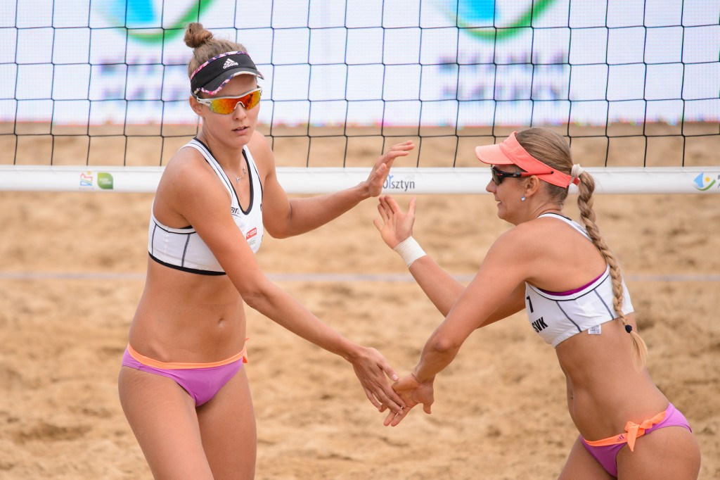 Slovak and Brazilian pairs bounce back from pool stage losses to reach FIVB Olsztyn Grand Prix semi-finals