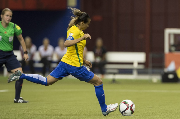 Brazilian striker Marta scored her record 15th World Cup goal in her nation's 2-0 win over South Korea ©Getty Images