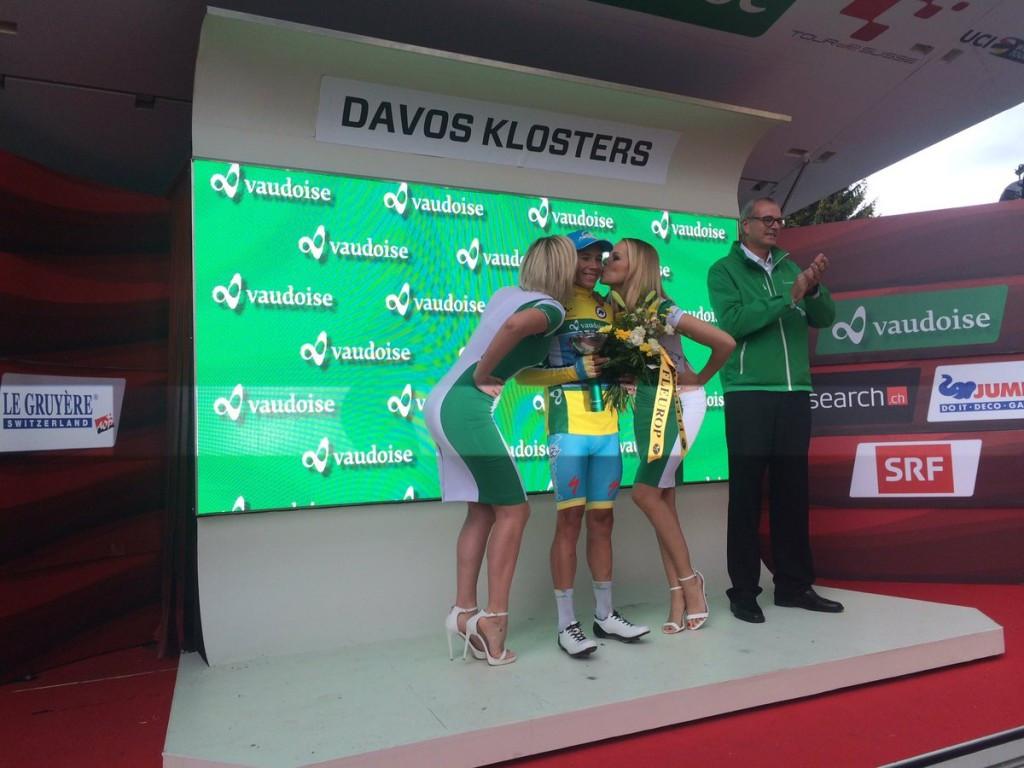 Lopez time trials into Tour de Suisse race lead ahead of final stage